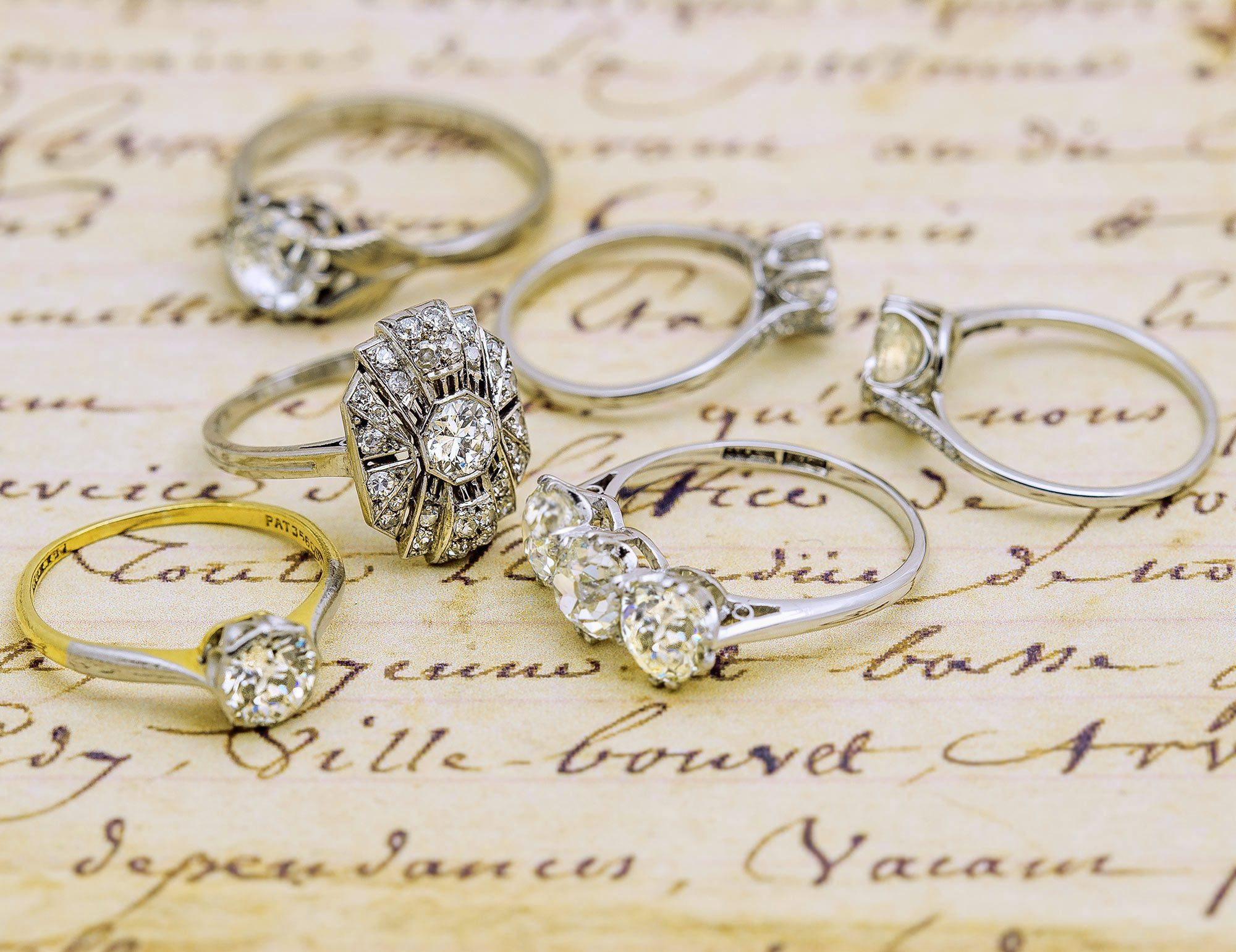 Visit our shop for a handpicked selection of antique and vintage engagement rings