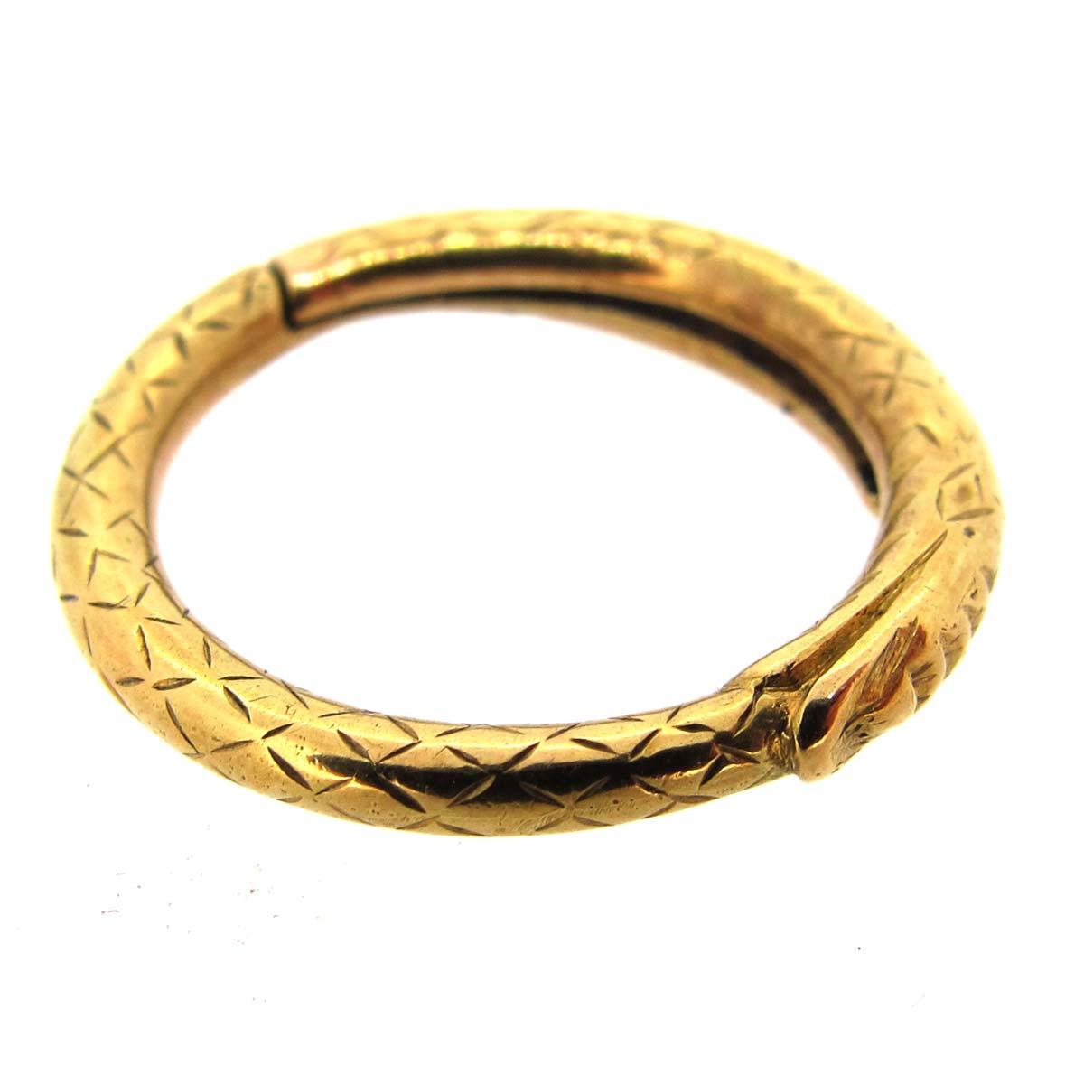 antique gold snake split ring a r ullmann