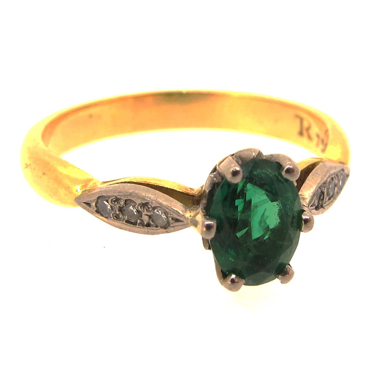 gold emerald ring a r ullmann