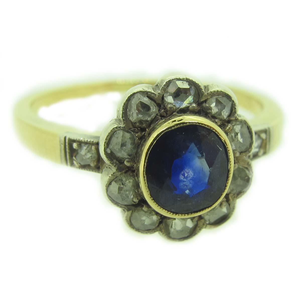 antique sapphire cluster ring a r ullmann