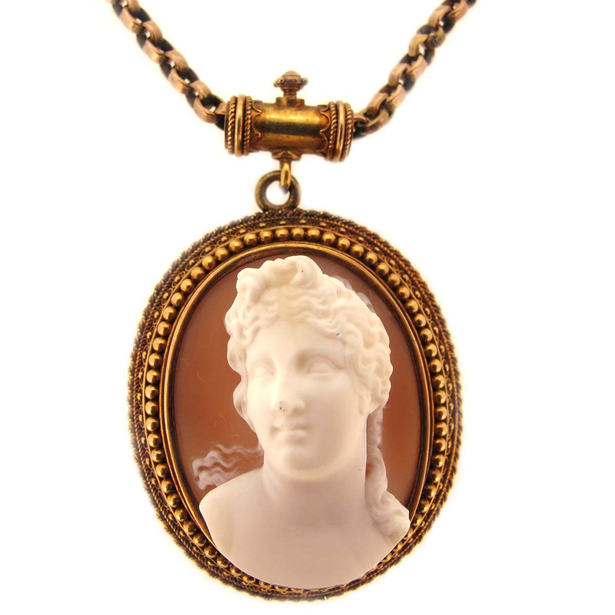 antique cameo pendant chain a r ullmann