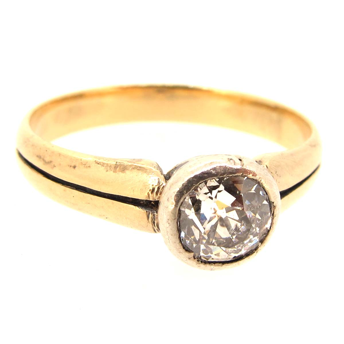 antique gold solitaire ring a r ullmann