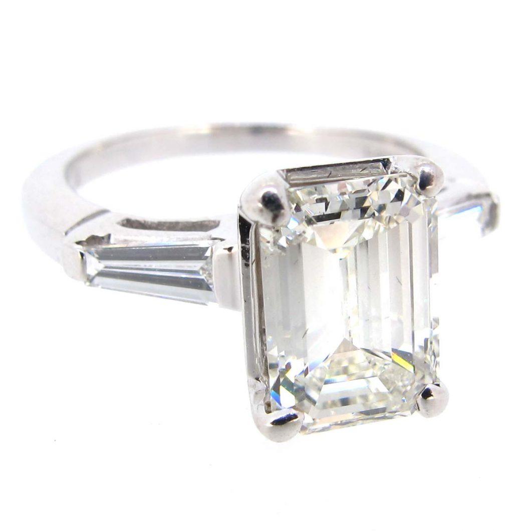 emerald cut solitaire ring a r ullmann