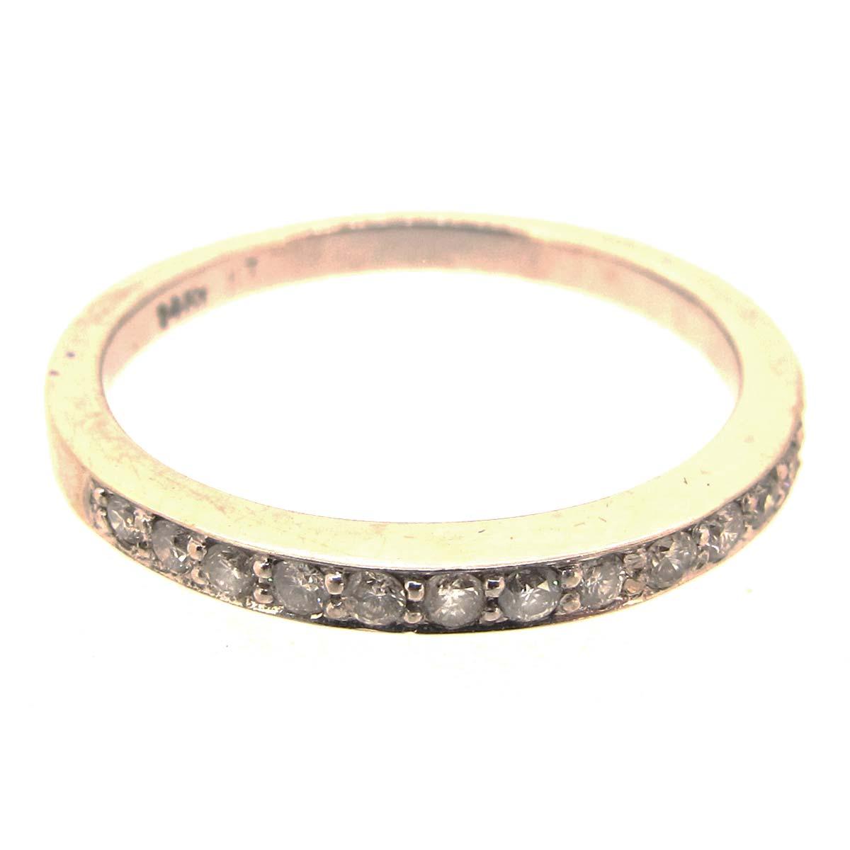 white gold half eternity ring a r ullmann