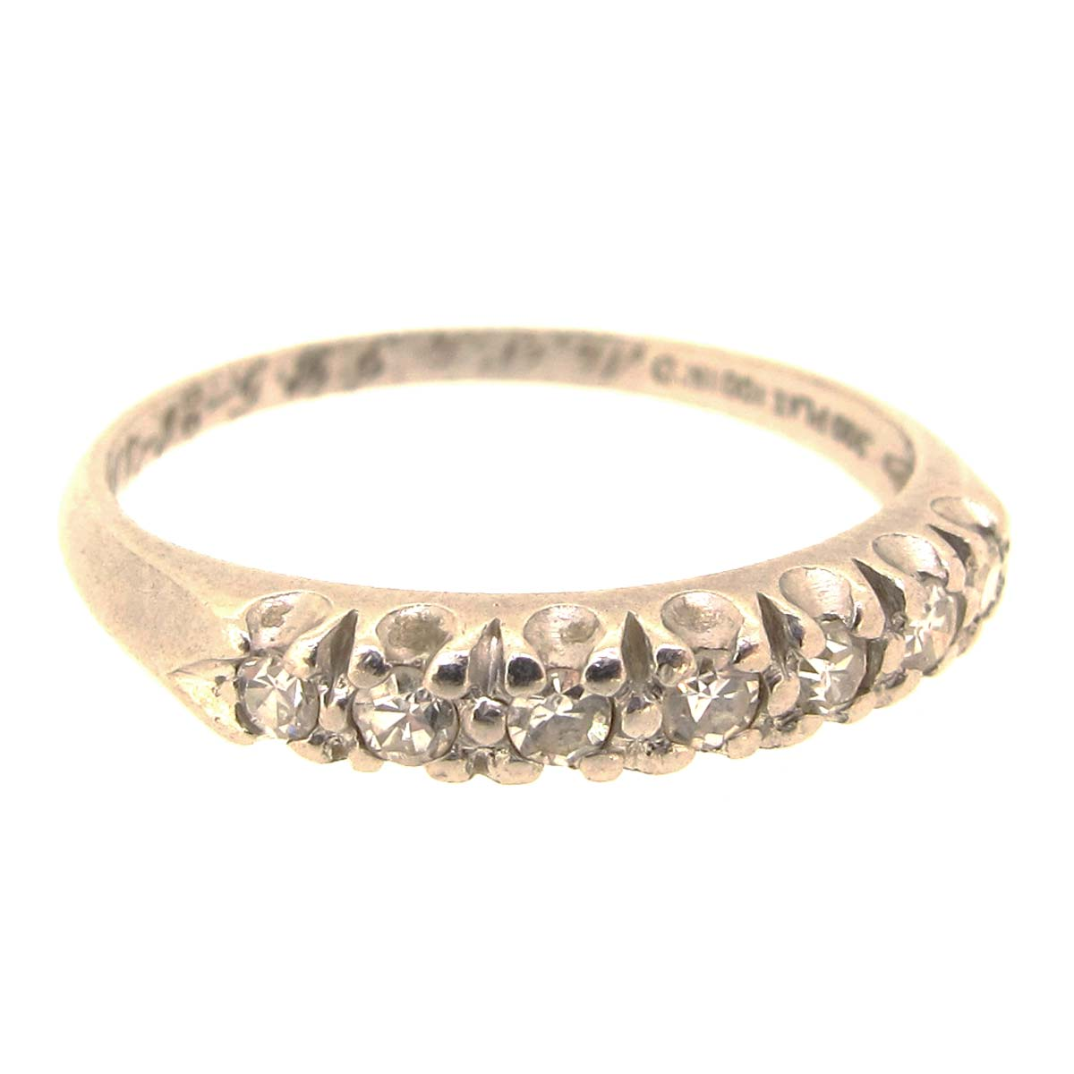 platinum half eternity ring a r ullmann