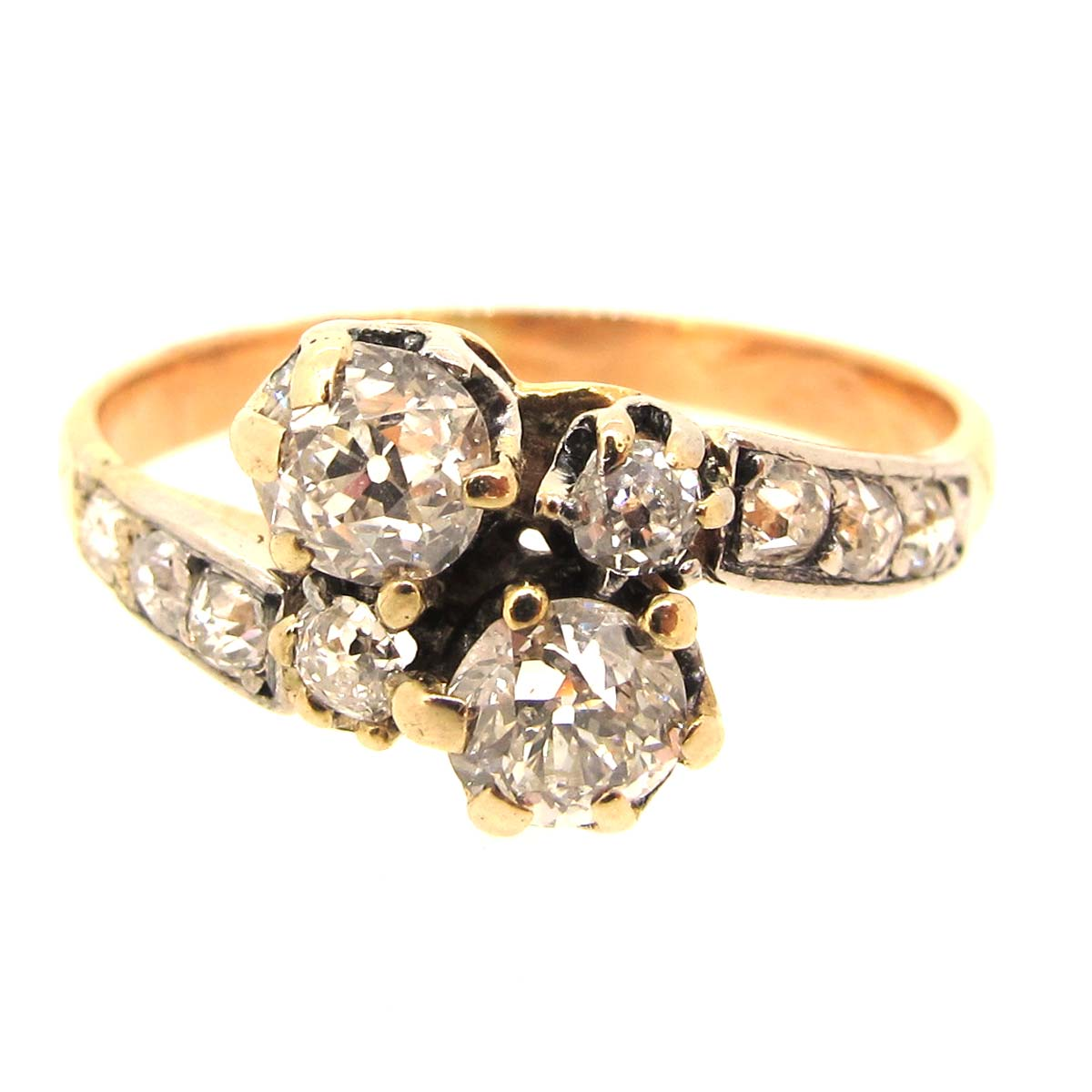 antique gold crossover ring a r ullmann