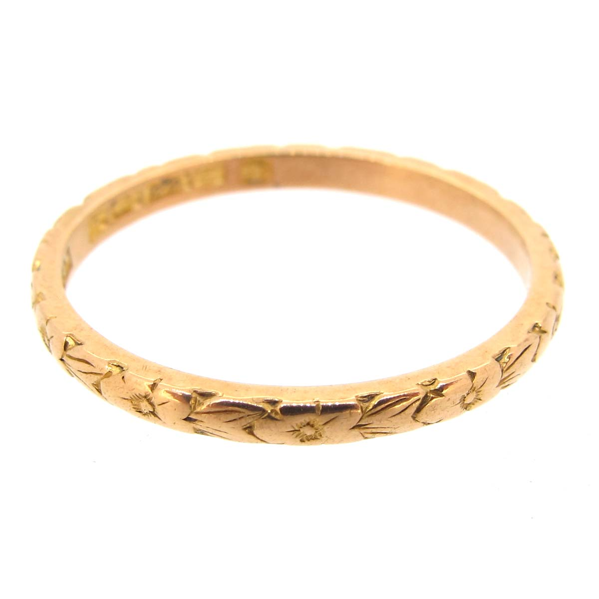engraved gold wedding band ring a r ullmann
