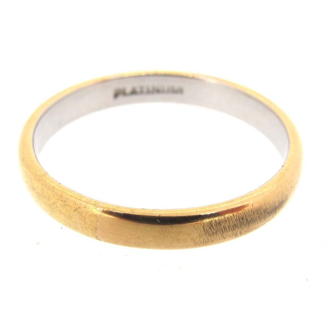 gold platinum wedding band ring a r ullmann