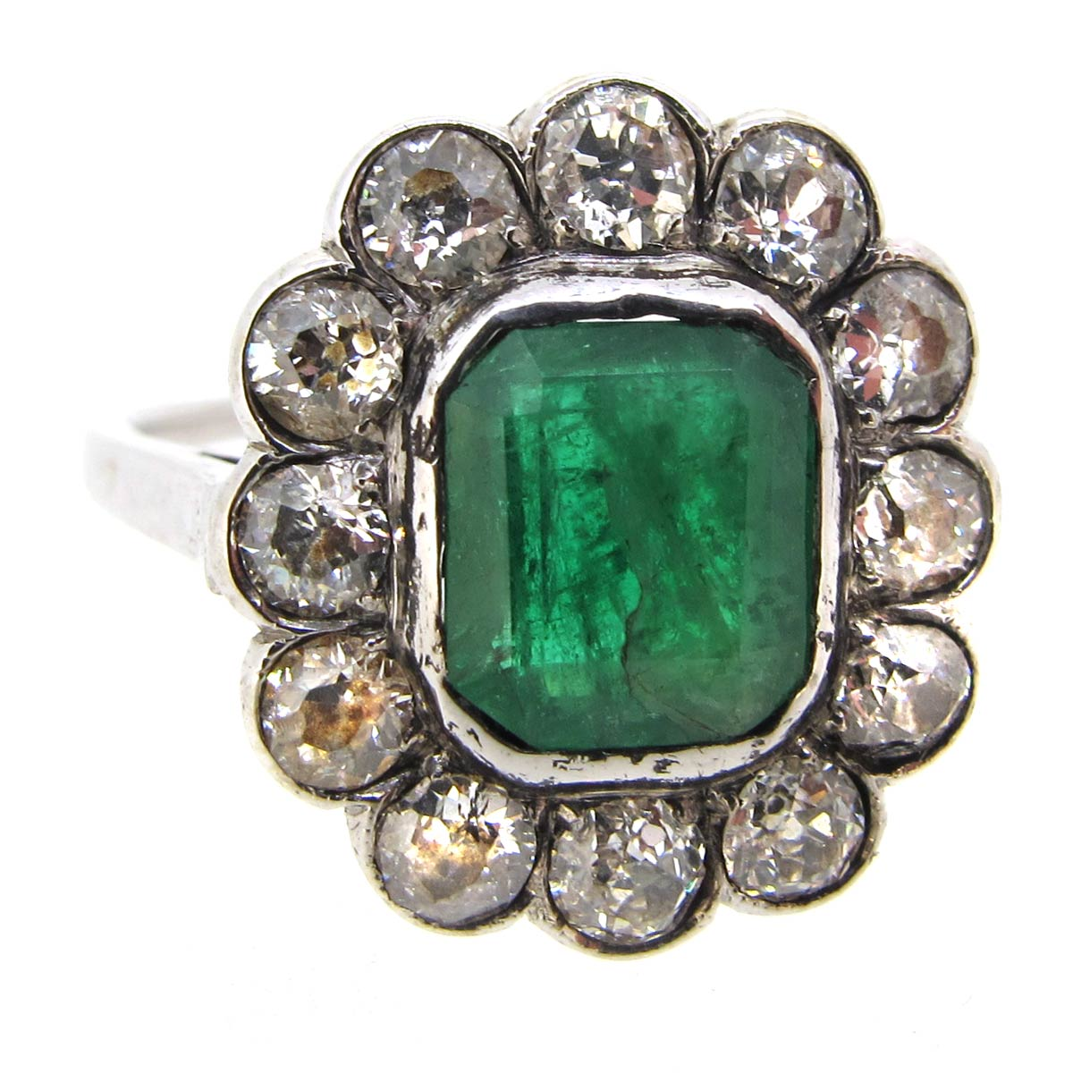 antique emerald cluster ring a r ullmann