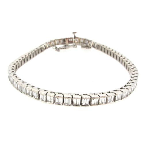 Baguette Cut Diamond Bracelet