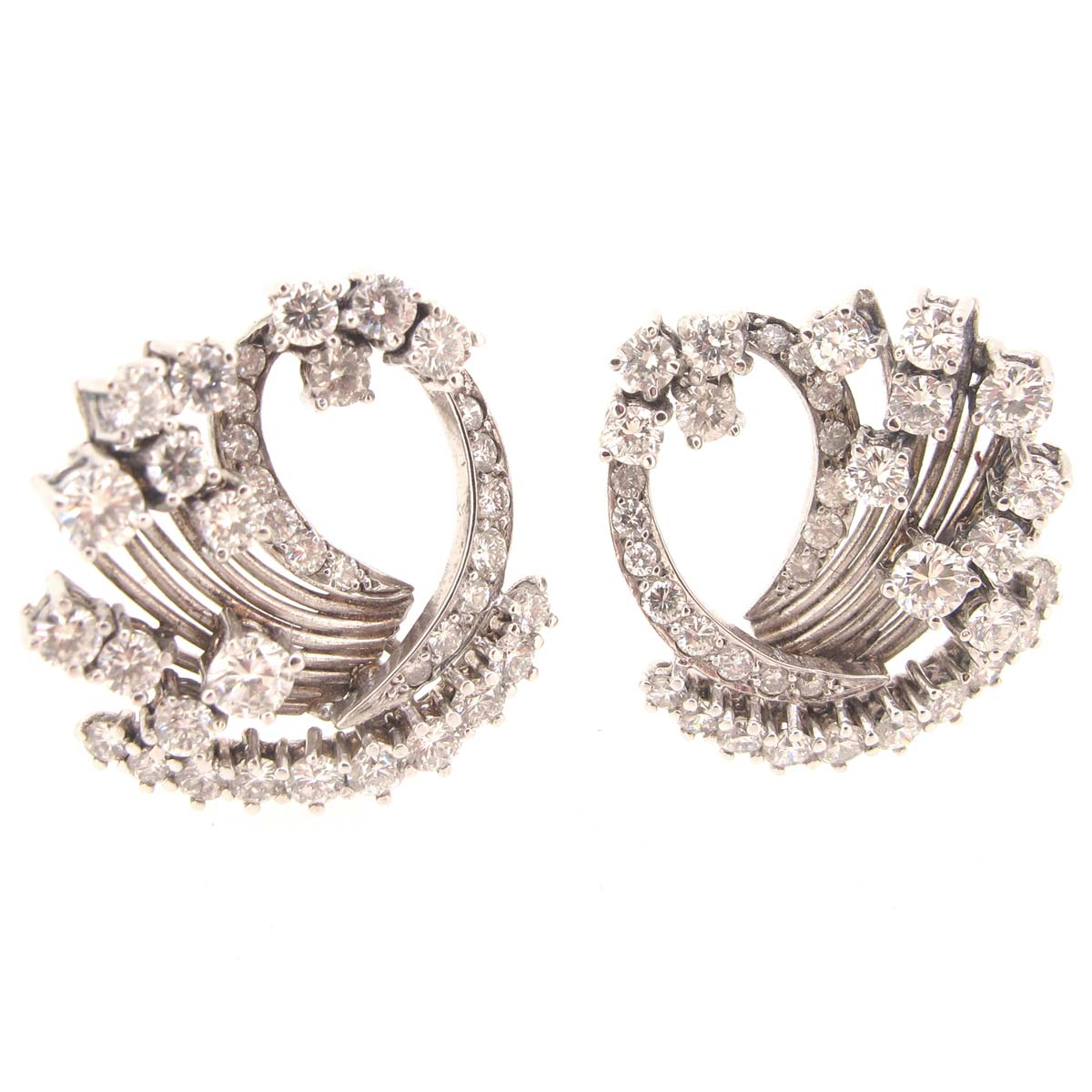 white gold & diamond earrings