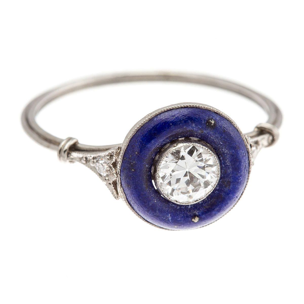 Lapis and Diamond Ring