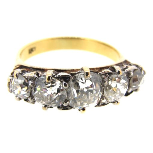Victorian Diamond 5 Stone Ring