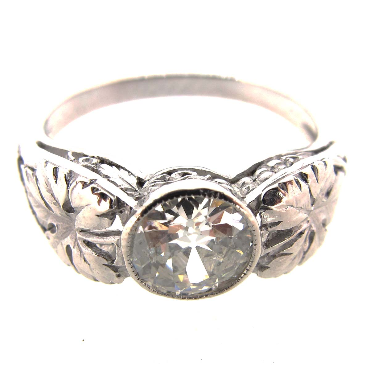 Art Nouveau Diamond Solitaire Ring
