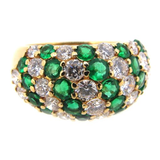 Emerald & Diamond Cocktail Ring