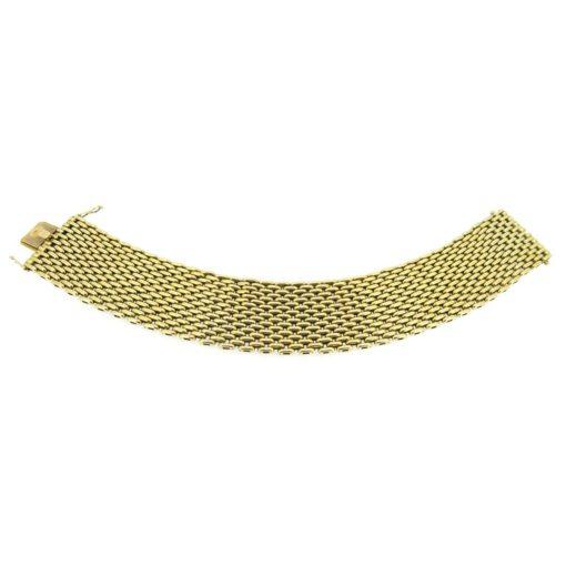 Wide 18ct Gold Bracelet