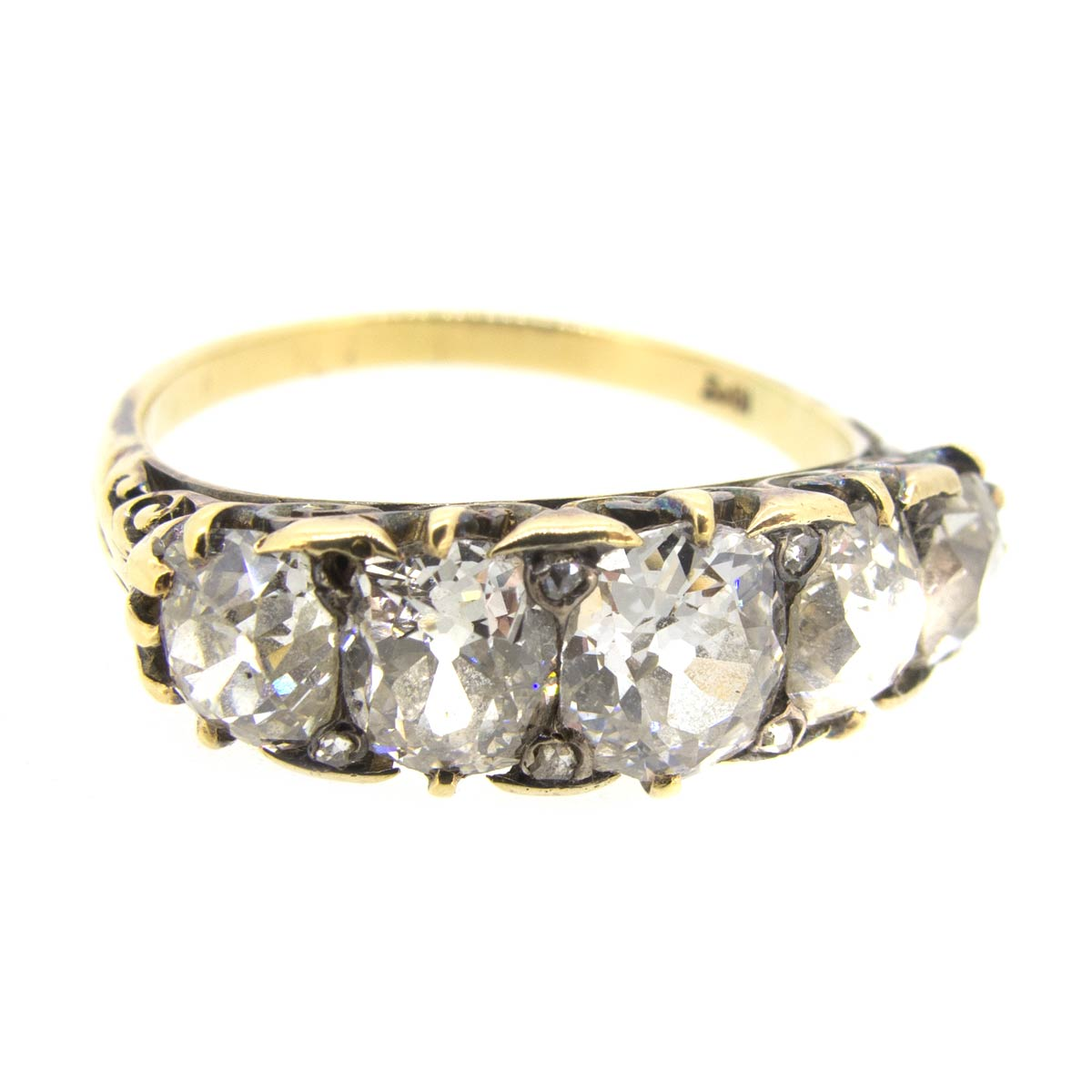 Victorian 5 Stone Diamond Ring
