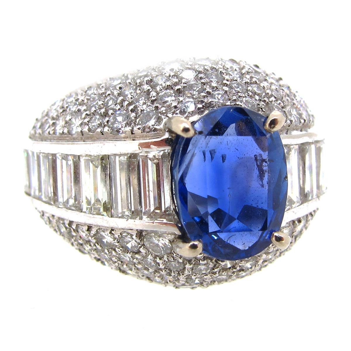 Sapphire & Diamond Cocktail Ring