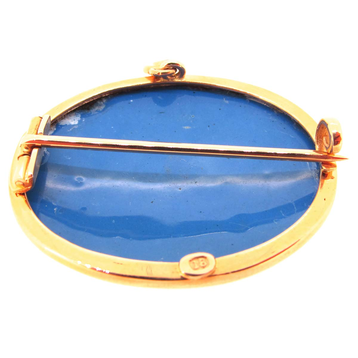 Antique gold & swiss enamel brooch