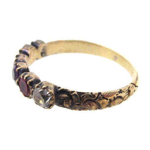 Antique Acrostic REGARD Ring