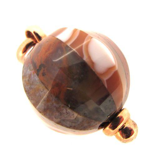 agate & rose gold pendant