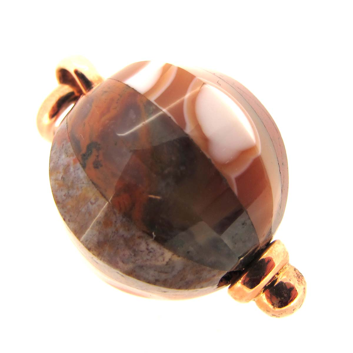 agate & rose gold pendant