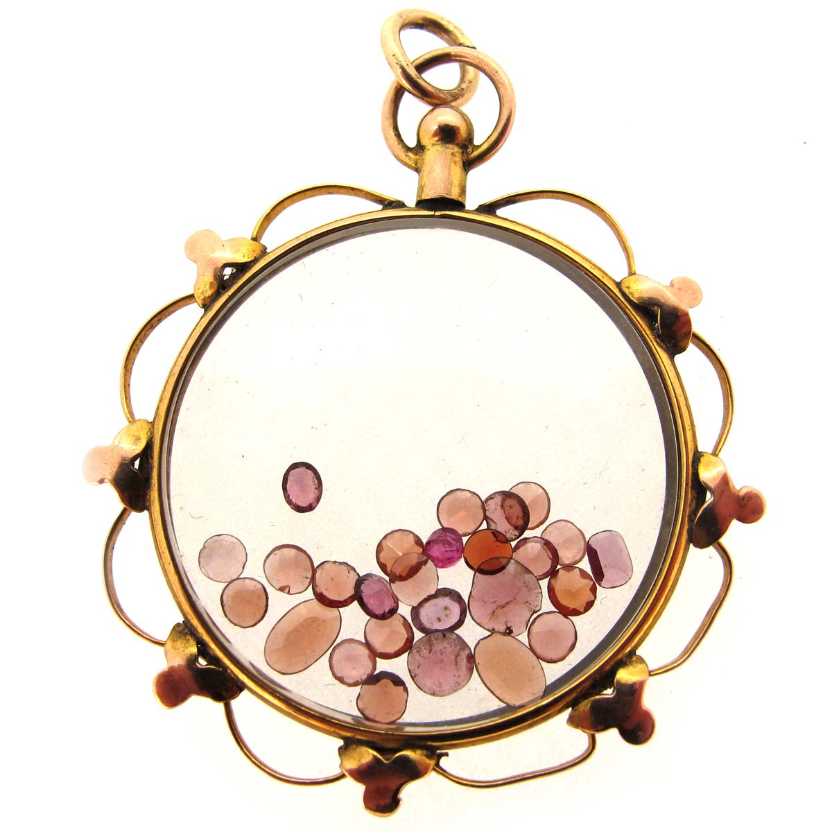 antique gold & garnet picture locket