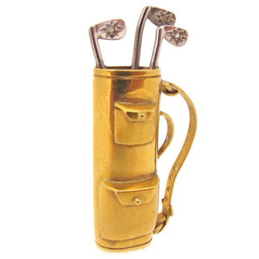 18ct gold & diamond golf club charm