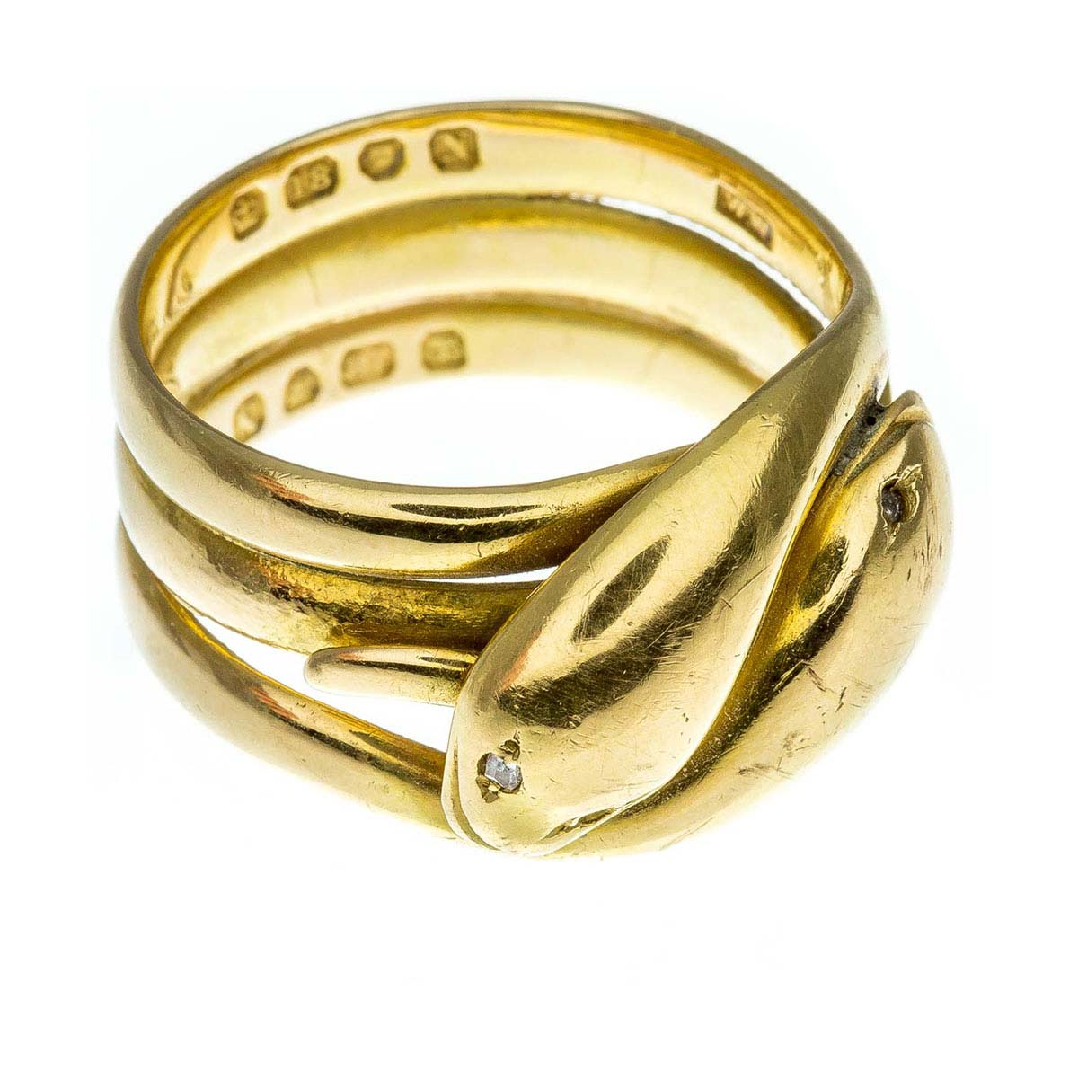 Antique Victorian 18ct gold snake ring