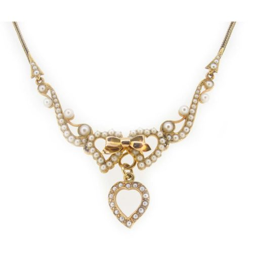 Antique gold & pearl neckalce