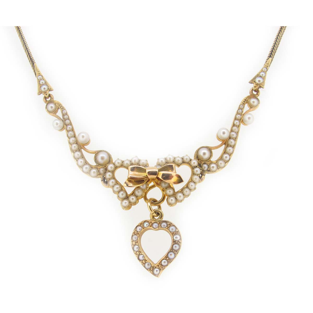 Antique gold & pearl neckalce