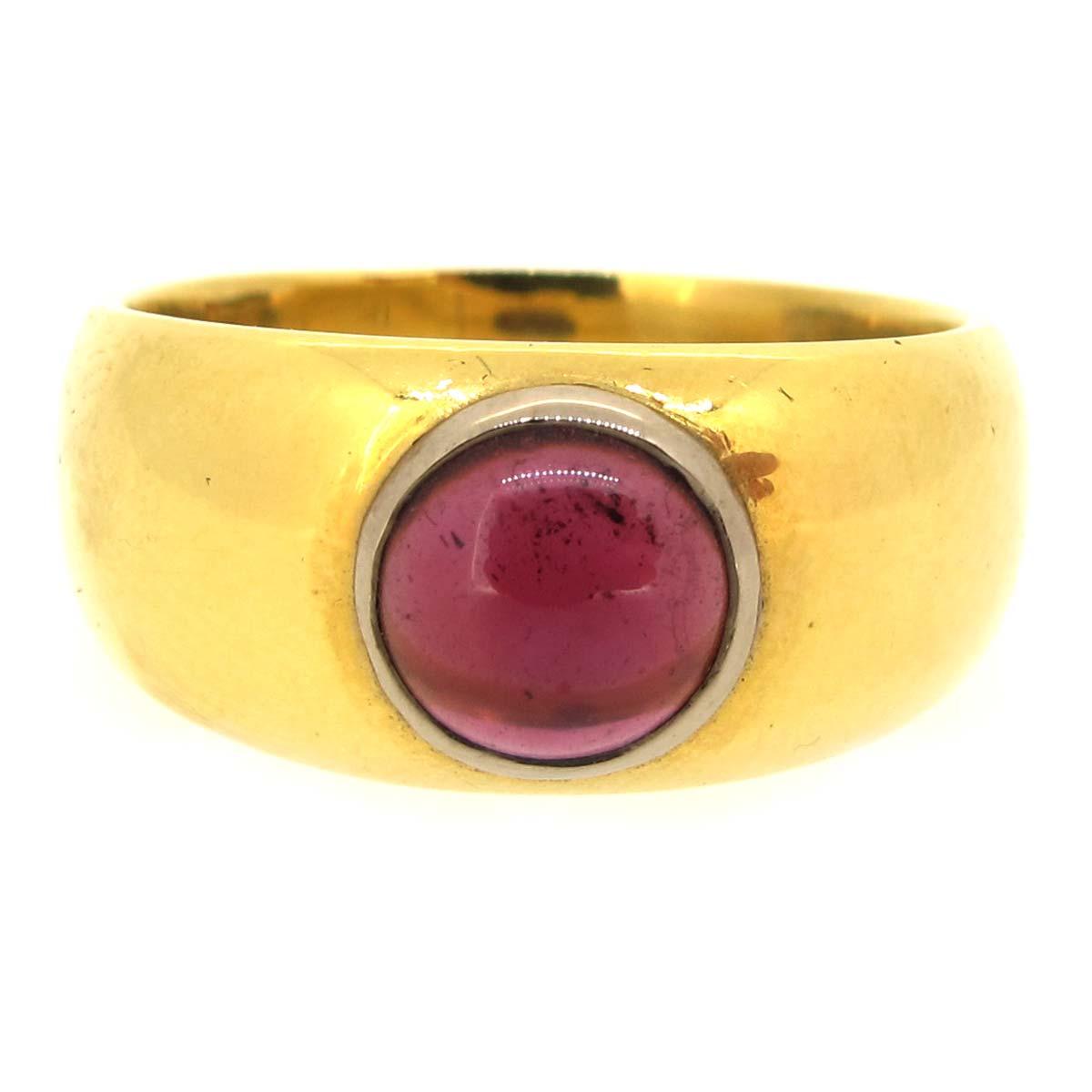 antique gold & garnet ring