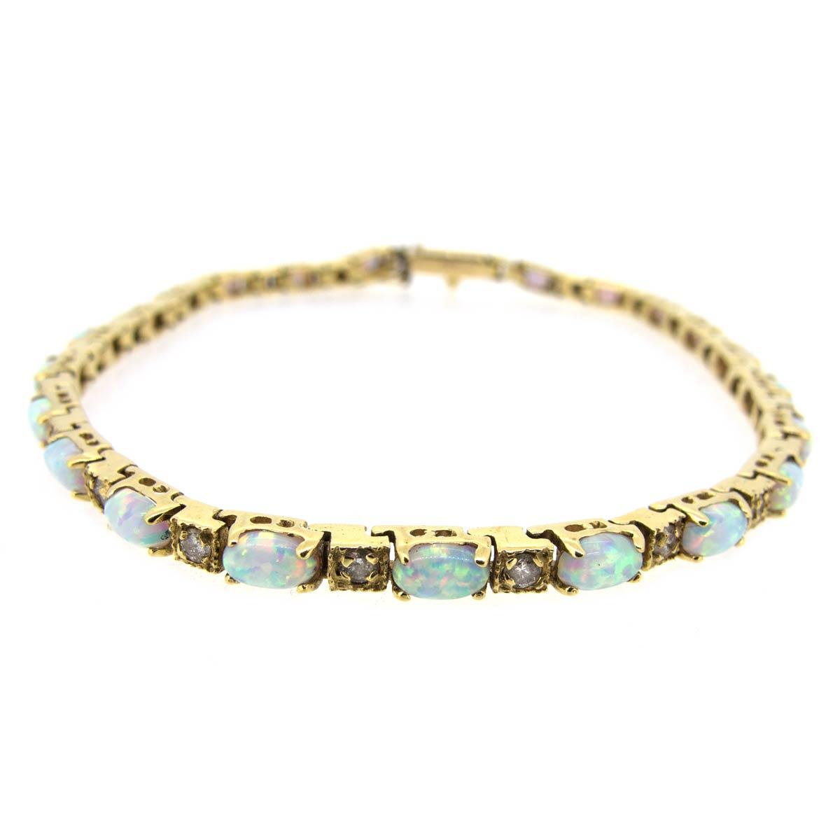 Opal & Diamond Bracelet