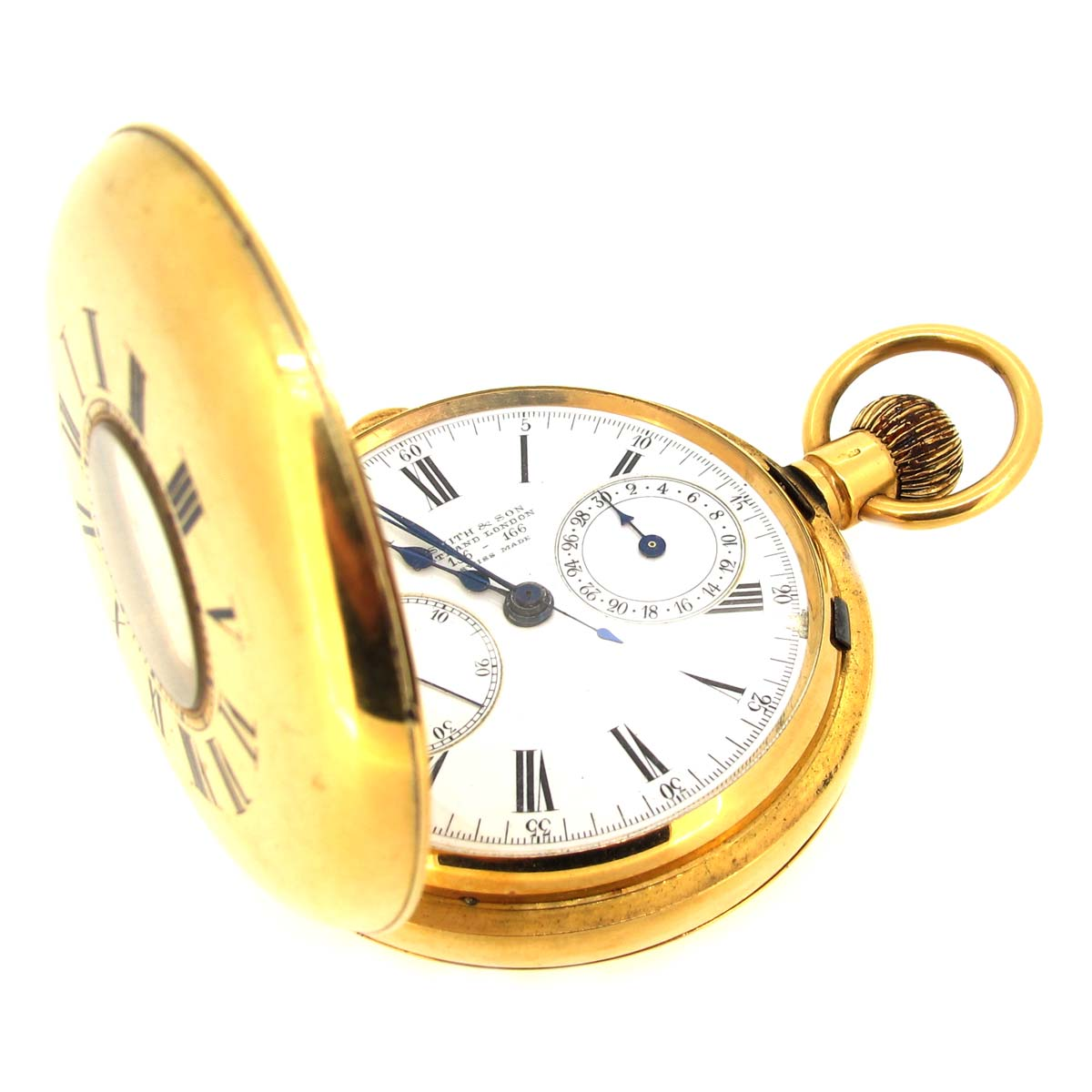 Antique 18ct gold & enamel pocket watch