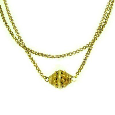 antique gold long necklace