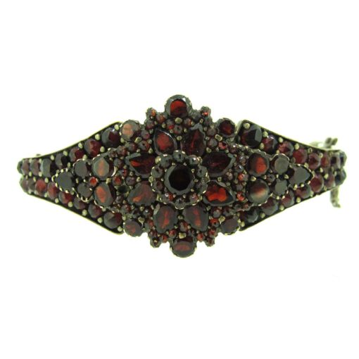 antique bohemian garnet bangle