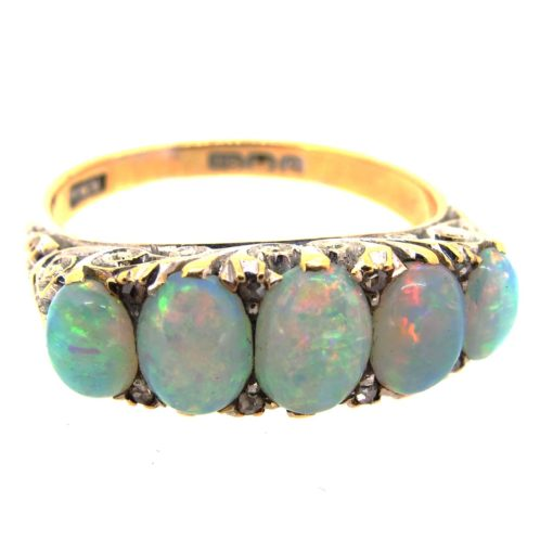 Antique Opal 5 Stone Ring