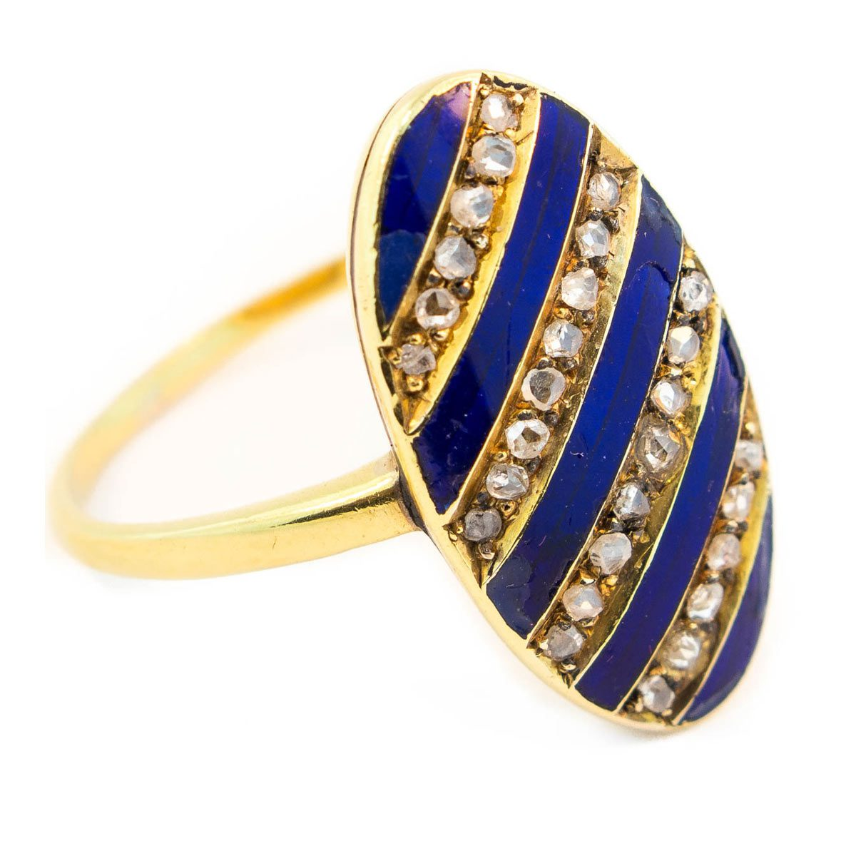 Antique Enamel and Diamond Ring