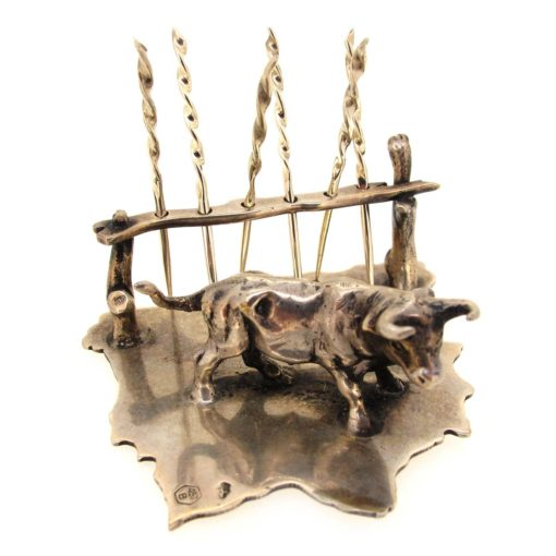 silver toothpick set