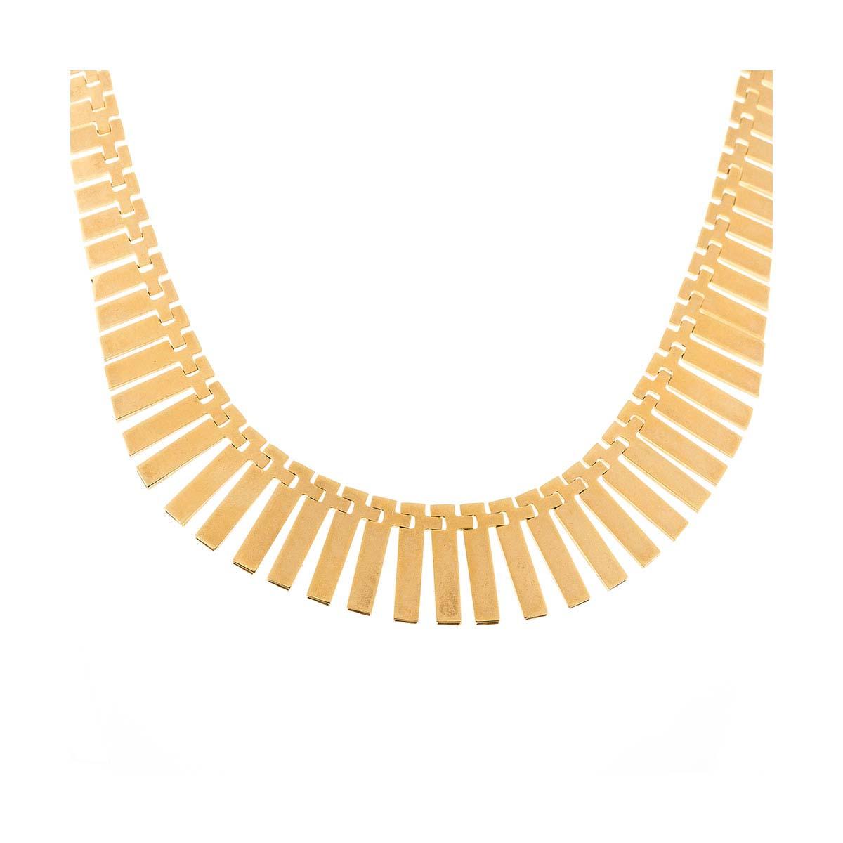 18ct gold fringe necklace