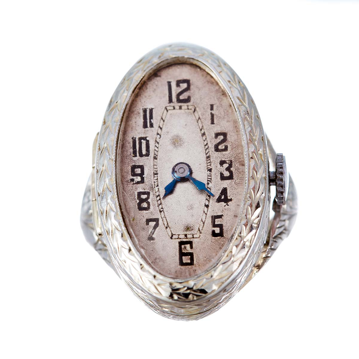Art Deco 18ct gold ring watch