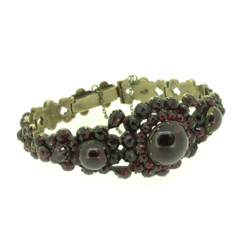 Antique bohemian garnet bracelet