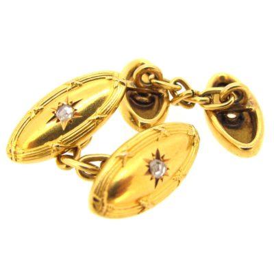 Antique gold & diamond cufflinks