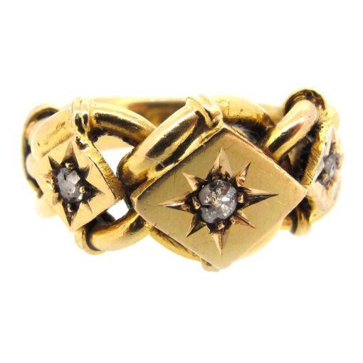 Antique Gold & Diamond Keeper Ring