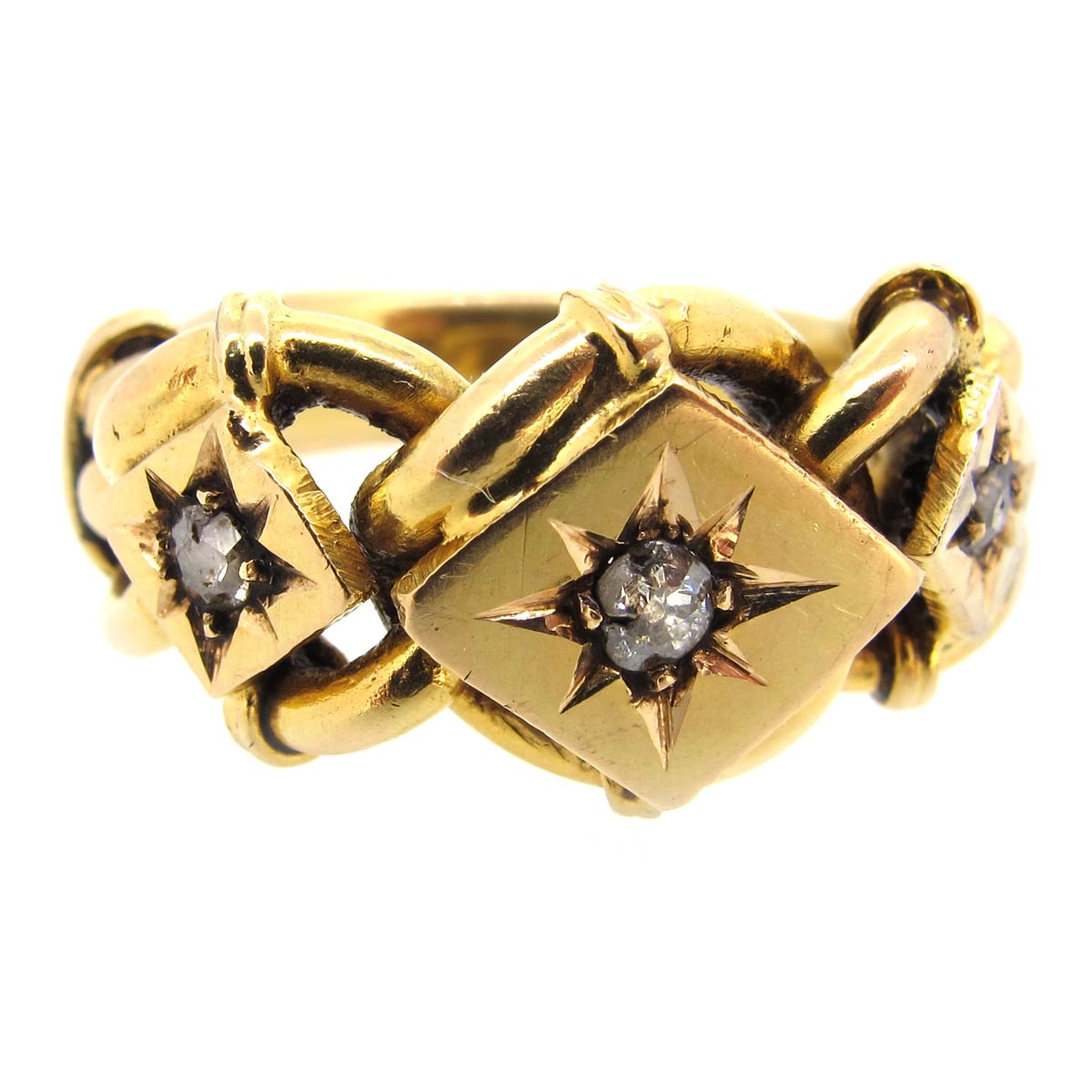 Antique Gold & Diamond Keeper Ring