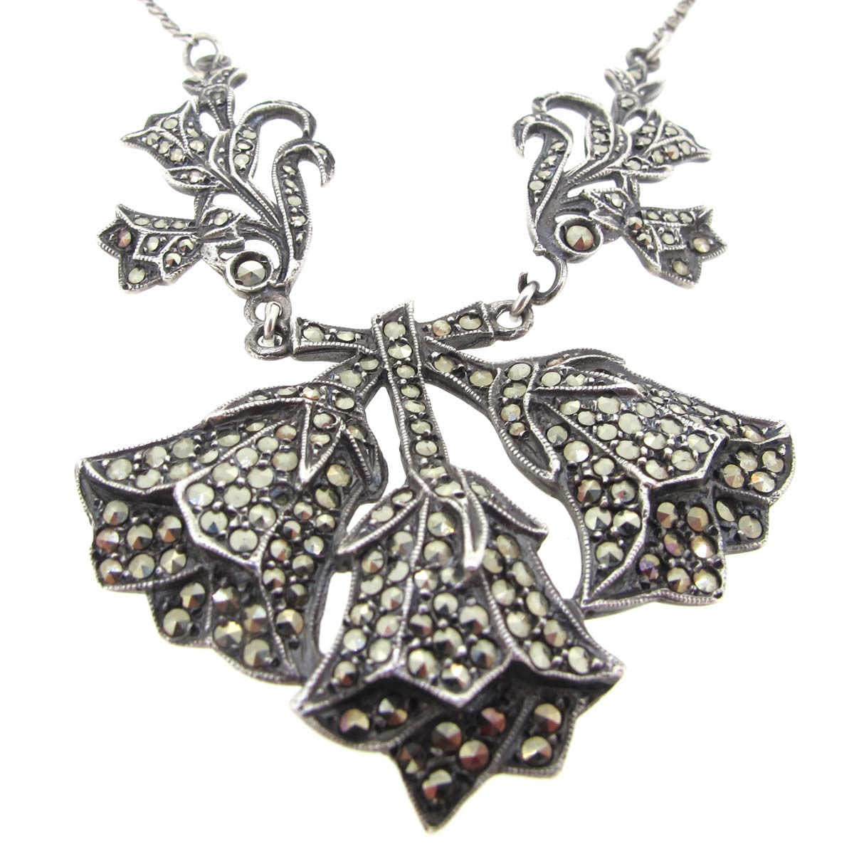 silver & marcassite necklace