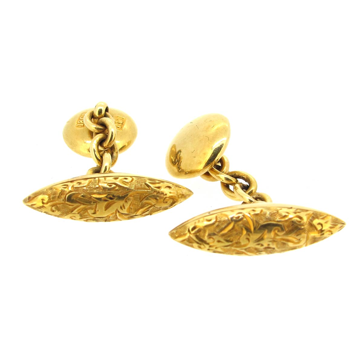 Gold Torpedo Cufflinks