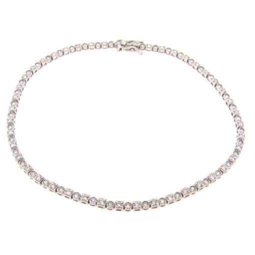 Milgrain Edge Diamond Tennis Bracelet