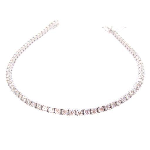 18ct White Gold & Diamond Tennis Bracelet