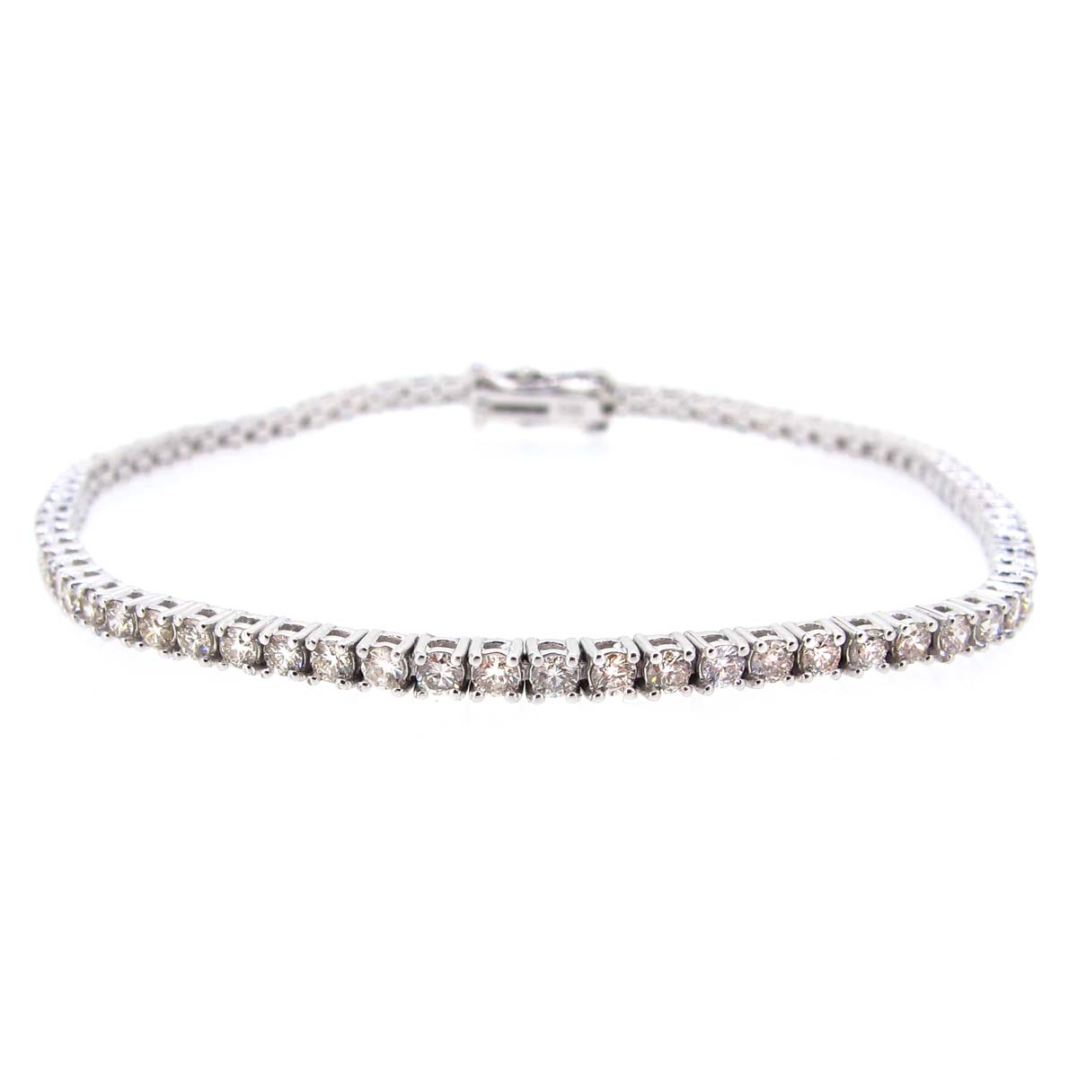 18ct White Gold & Diamond Tennis Bracelet